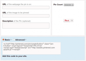 Pinterest Pin It Button Integration