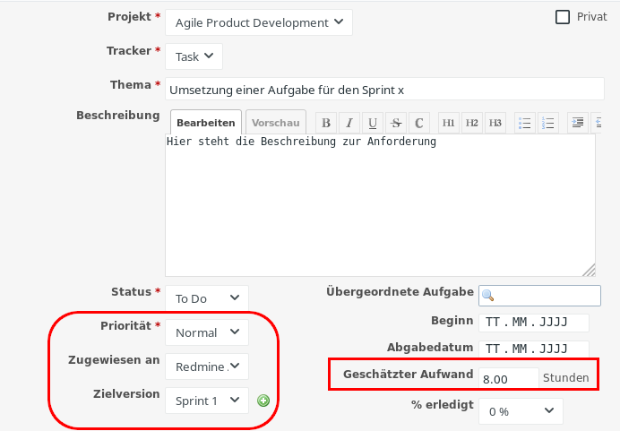 Redmine Roadmap für agile Teams